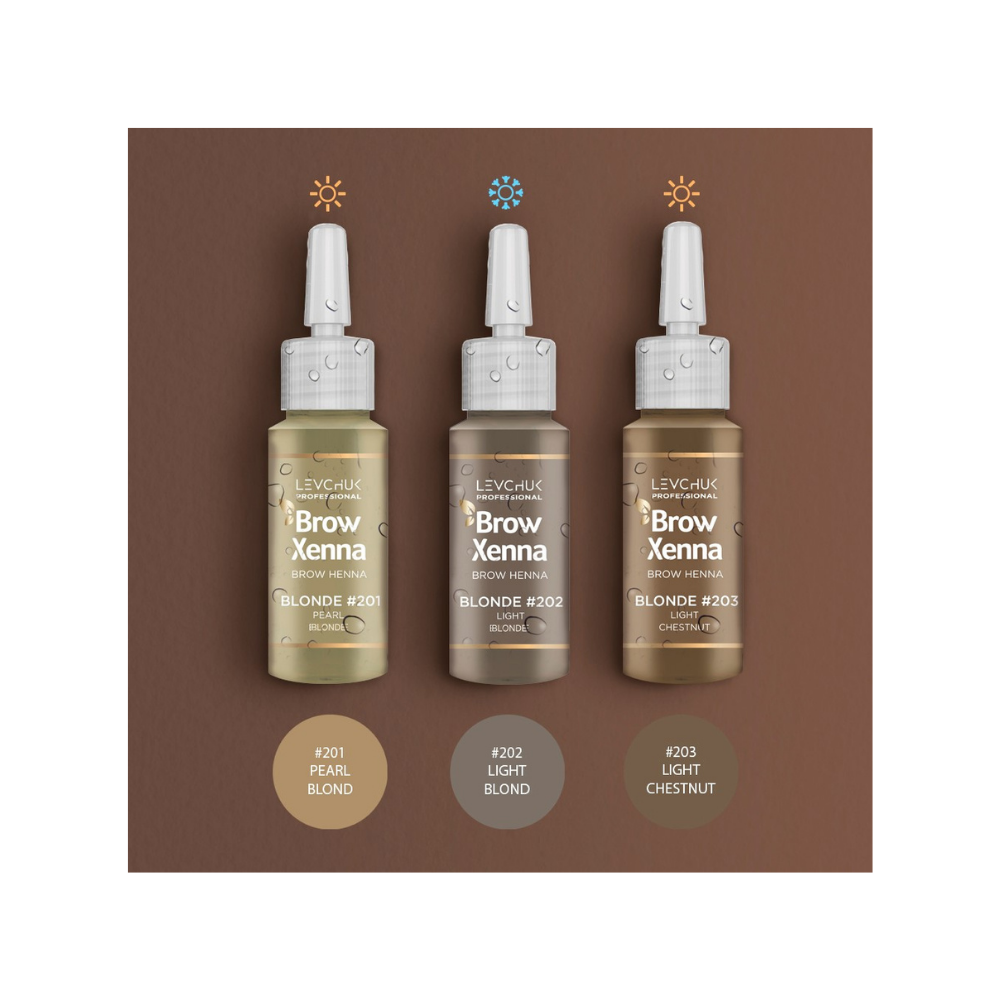 Brow Xenna set Blonde - Brow Xenna - Brow Xenna Products dluxpro