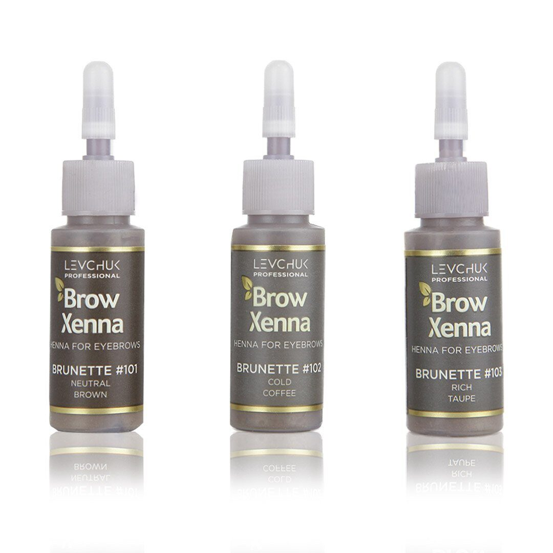 brow xenna set Brunette - Brow Xenna - Brow Xenna Products dluxpro